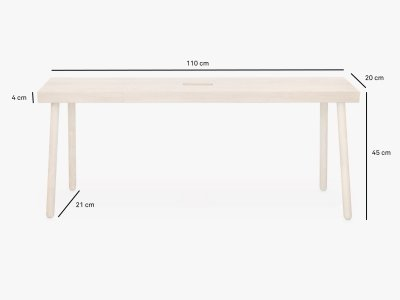 Product dimensions bench BAENKK