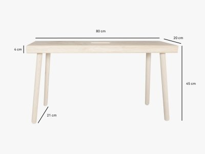 Product dimensions bench BAENKKL