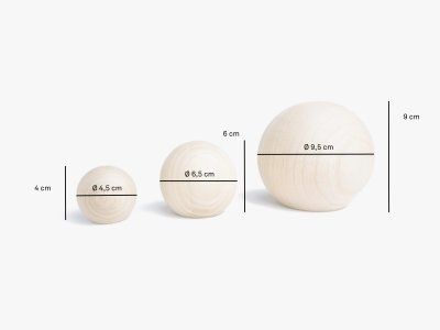 Produktmaße Kleiderhaken BALLS