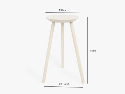 Product dimensions sidetable CHEERS