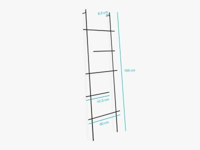 Product dimensions ladder ENDRA black