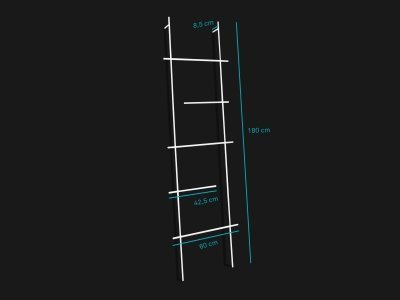 Product dimensions ladder ENDRA