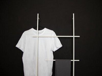 Handtuchleiter ENDRA in weiß von kommod Detailansicht