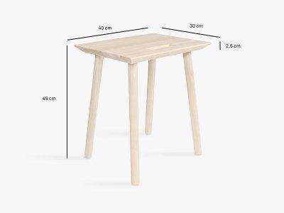 Produktmaße der Holzschemel KNOQDI