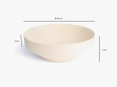 Product dimensions bowl KRIMS