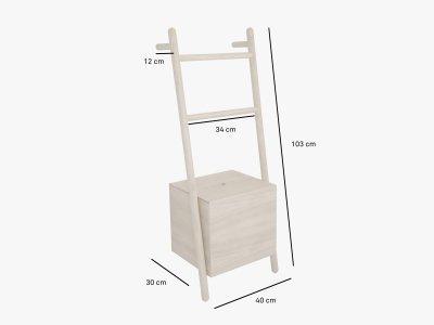 Product dimensions ladder-shelf LOKKS