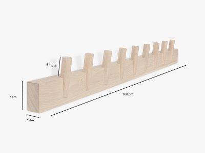 Produktmaße der Garderobenleiste STEQS