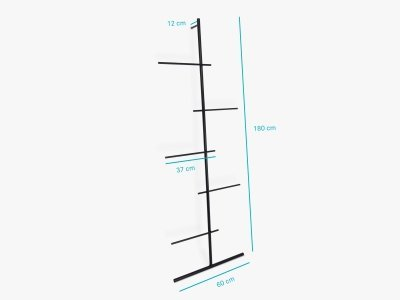 Product dimensions ladder SWENDRA