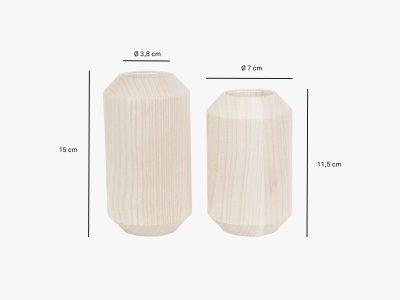 Produktmaße Holzvase TAKKS