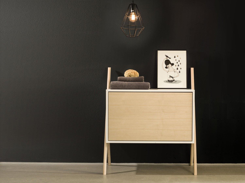 Modernes Sideboard Kleine Kommode Aus Eschenholz Natur Kommod